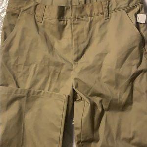 Boys uniform pants size 18 waist 31 Tan